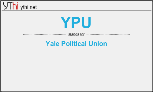 What does YPU mean? What is the full form of YPU?